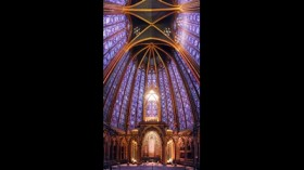 Die Fenster der Sainte Chapelle in Paris